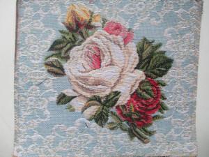 Букет на голубом Розы - Гобелен