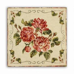 Комплект Старинные розы (6 шт.) - Гобеленовая салфетка
