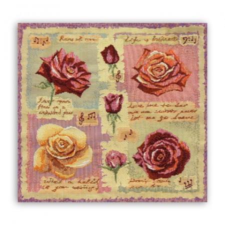 Комплект Роза ветров (6 шт.) - Гобеленовая салфетка