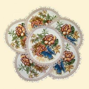 Комплект Китайский фарфор (6 шт) - Гобеленовая салфетка