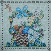 Пасхальное торжество - Гобеленовая салфетка