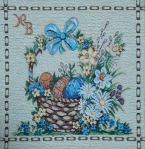 Пасхальная корзина - Гобеленовая салфетка