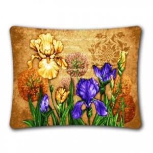 Наволочка Ирисы цветущие (вар. 3) (люкс) - Гобелен
