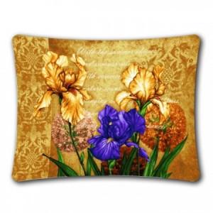 Наволочка Ирисы цветущие (вар. 2) (люкс) - Гобелен