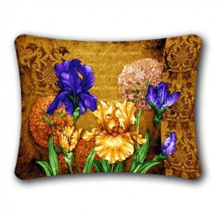 Наволочка Ирисы цветущие (вар. 1) (люкс) - Гобелен