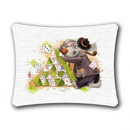 Наволочка Карточный домик (люкс) - Гобелен