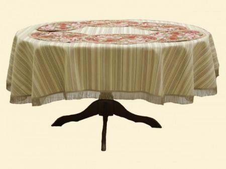 Подарочный набор Маковый (скатерть + 6 салфеток) - Гобеленовая салфетка