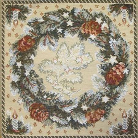 Рождественский венок - Гобеленовая салфетка