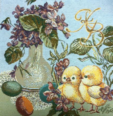 Счастливая Пасха - Гобеленовая салфетка