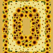 Комплект Цветочная поляна (6 шт.) - Гобеленовая салфетка