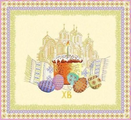 Святая Пасха - Гобеленовая салфетка