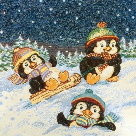 Три пингвина - Гобеленовая салфетка