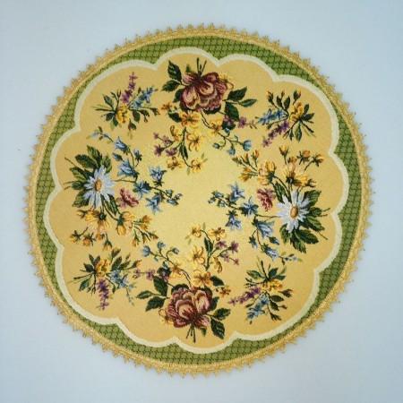 Цветочное кружево - Гобеленовая салфетка