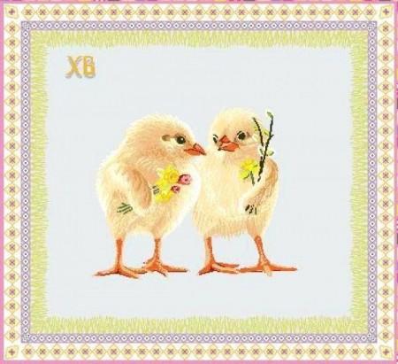 Цыплята - Гобеленовая салфетка