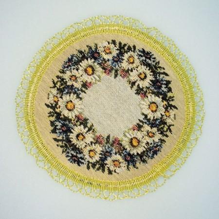 Васельки и ромашки - Гобеленовая салфетка