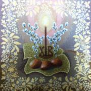 Комплект Бабочки-орхидеи (10 шт.) - Гобеленовая салфетка