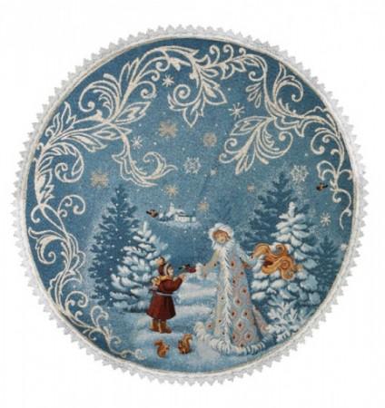 Внучка (голубая) - Гобеленовая салфетка
