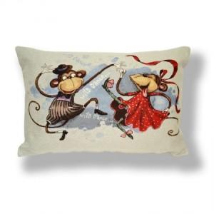 Наволочка Танцубщие обезьянки (люкс) - Гобелен