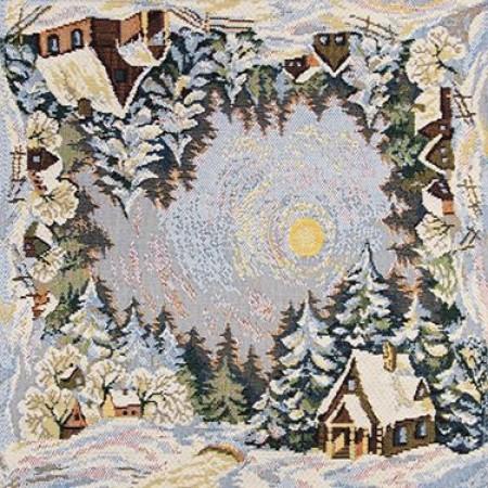 Зимние узоры - Гобеленовая салфетка