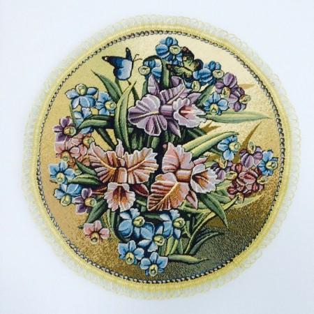 Бабочки и орхидеи  - Гобеленовая салфетка