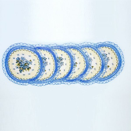 Комплект Незабудка (10 шт.) - Гобеленовая салфетка