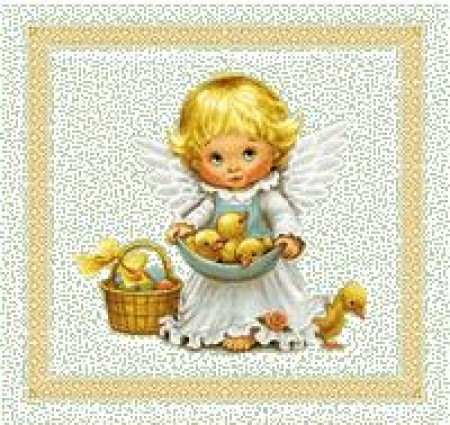 Ангел 1 - Гобеленовая салфетка