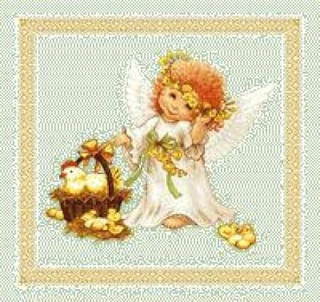 Ангел 2 - Гобеленовая салфетка