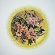 Салфетка Бабочки и орхидеи