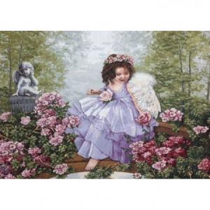 """Гобеленовый чехол на декоративную подушку """"Ангел"""" (50 х 70)"""