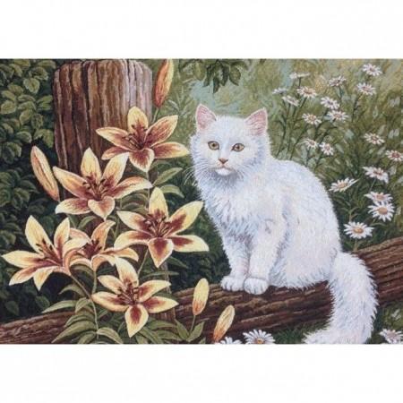 Наволочка Кот в лилиях