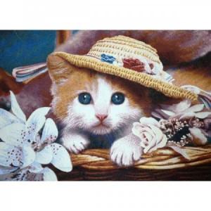 Наволочка Котенок в шляпе