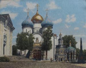 Панно Лавра Загорск (62*50)