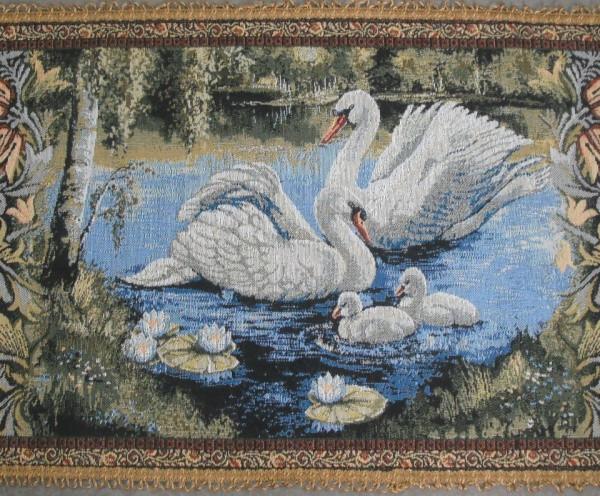 Столешница Лебединая семья