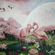 Панно Розовый фламинго (50*37)