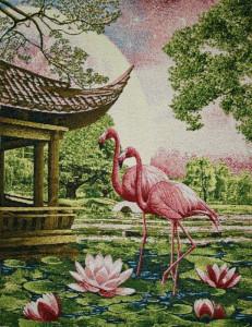 Панно Розовый фламинго (65*50)