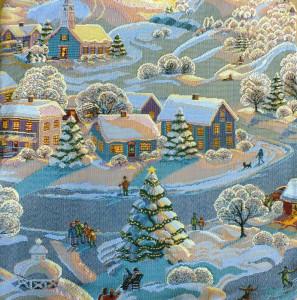 Декоративная наволочка Зима (50*50)