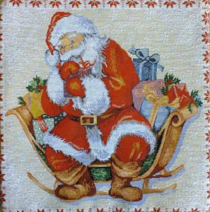Декоративная наволочка Подарки Санта-Клауса (35*35)
