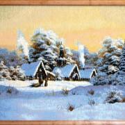 Зимний домик (55*46) Россия.