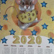 """Календарь гобеленовый  2020 год """"Совы"""""""