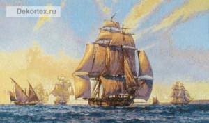 """Гобелен """"Море и корабли"""""""