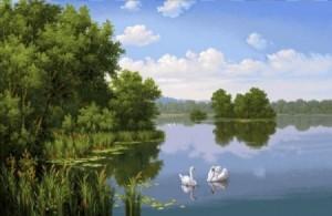 Лебединная пара - Гобелен