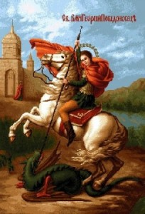 Икона Георгий Победоносец - Гобелен