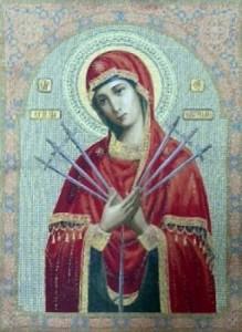 Икона Богородица Семистрельная - Гобелен