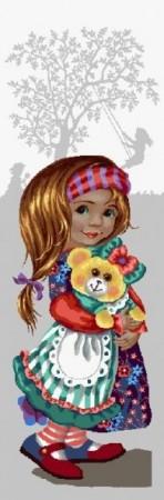 Девочка с мишкой - Гобелен