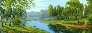На рыбалке - Гобелен