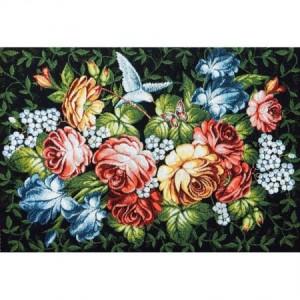 Наволочка Цветы на черном - Гобелен