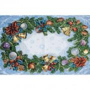 Дед мороз на тройке - Гобеленовая салфетка