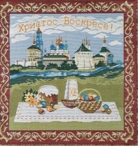 Салфетка Пасхальный пейзаж (30*30) Россия.